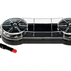 Маяк LED,мини версия, кристално стъкло, светещ в син цвят, 10 режима, с кабел за запалка, с магнитна основа 10-30V