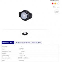 Габарит бял, LED 12/24V