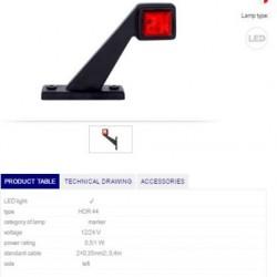 Рогче късо LED LH