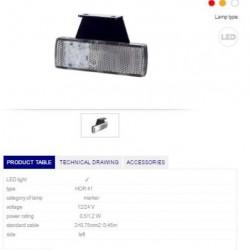 Габарит бял светлоотразителен LH LED 12-24V