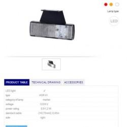 Габарит бял светлоотразителен RH LED 12-24V