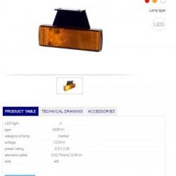 Габарит оранжев светлоотразителен LH LED 12-24V