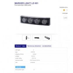 Габарит за сенник, бял, LED  -Scania 4-series-