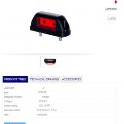 Осветител номер диоден ,LED 12/24V, универсален