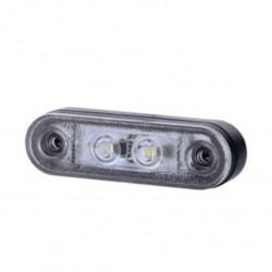 Габарит диоден с гумена основа,бял LED 12/24V