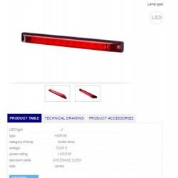 Стоп лампа, червена (лента) LED 12-24V