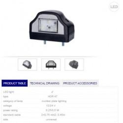 Осветители за номер бял LED 12/24V, универсален-