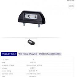 Осветител номер LED 12/24V