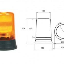 Стъкло маяк оранжево за серия 445