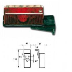 Стъкло за габарит (червено-бяло) серия 513