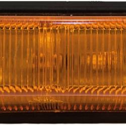 Стъкло за габарит страничен, оранжев, правоъгълен с равна основа
