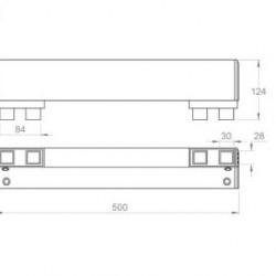 Ъгъл за страничен профил за защита 140х100х500 -Сив-