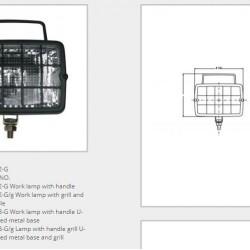 Халоген с решетка и дръжка /Н3 крушка/