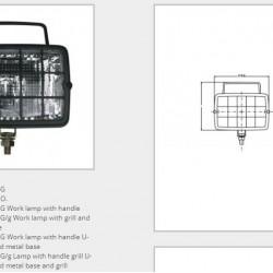 Халоген с решетка и основа /крушка Н3/