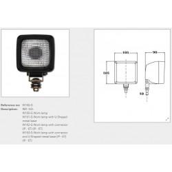 Халоген с крушка Н3 (бял/квадратен)
