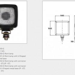 Халоген стъклен разсейвател и кабел/основа/крушка Н3