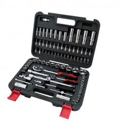 Комплект инструменти в куфар 86 части, гедоре 1/2 и 1/4 CR.V