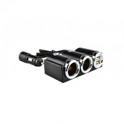 Разклонител за запалка с USB 12/24V