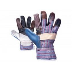Ръкавици разноцветна кожа и плат ,ROBIN-