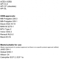 Масло моторно минерално 5 литра AVISTA PURE EVO CI-4 TS SAE 15W-40,