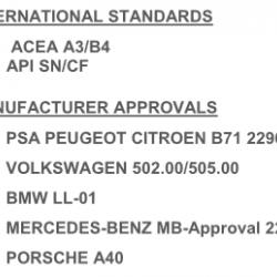 Масло моторно лек автомобил синтетично 5 литра  QUARTZ 9000 5W40