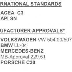 Масло моторно лек автомобил синтетично 5 литра QUARTZ INEO LONG LIFE 5W30 LOW SAPS