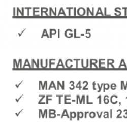 Масло диференциално 20 литра TRANSMISSION AXLE 7 85W90 GL5
