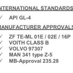 Масло за скоростна кутия 20L TRANSMISSION GEAR 9 FE 75W80 GL4