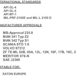 Масло за скоростна кутия 20L TRANSMISSION DUAL 9 FE 75W90 GL5