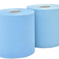 Почистваща хартия на ролка синя, трипластова, 500 КЪСА -
