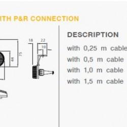 Габарит страничен диоден с кабел 1500мм.