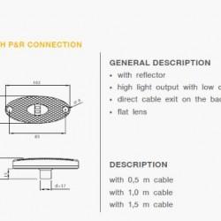 Габарит страничен с кабел 1500мм. P&R
