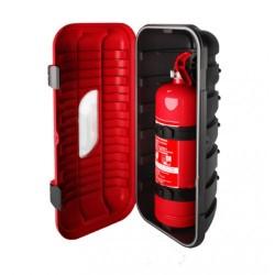 Кутия за пожарогасител STRIKE, червена с прозорец, 6 kg, 287x600x220