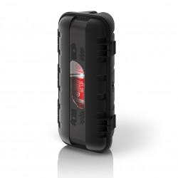 Кутия за пожарогасител STRIKE, черна с прозорец, 6 kg, 287x600x220