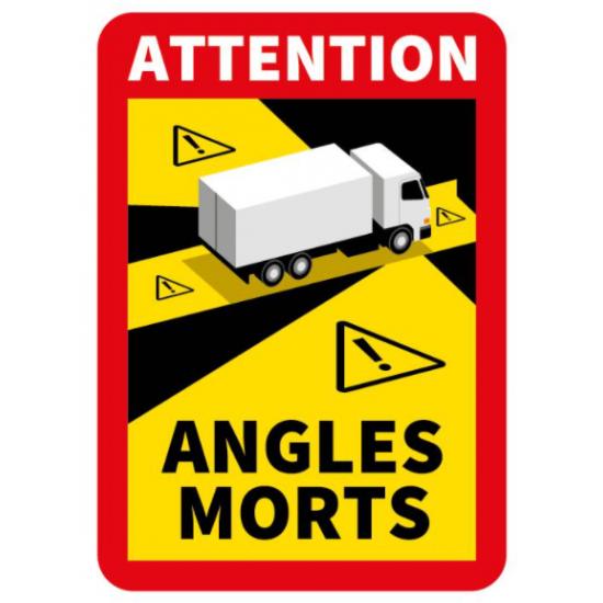 """Стикер """"Невидима зона""""  за камион, високо качество (универсален), 25х17 см"""