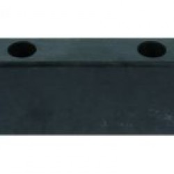 Буфер гумен за ремарке  L200 x B52 x H80 MM;  ОТВОРИ  2 x 10.5MM