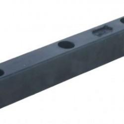 Буфер гумен за ремарке  L403 x B51 x H80 MM;  ОТВОРИ 3 x 24,5MM