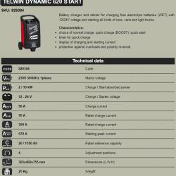 Зарядно стартерно устройство 570A/620 Dynamic
