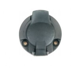 Букса токова 12V, 7 pin, пластмасова, с винтчета, за ремарке, тип N