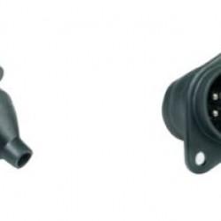 Букса токова 24V, 7pin, пластмасова, с винтчета, женска маса, за ремарке, тип S