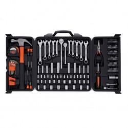 Куфар с инструменти 140 части, чук,  к-кт гаечни кл., тресчотки и вложки