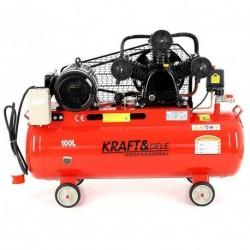 Маслен компресор за въздух 100L; 400V; 8bar; 3 бутала; Сепаратор