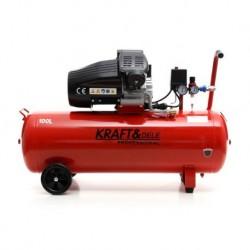 Маслен компресор за въздух 100L; 230V; 8bar; 2 бутала; Сепаратор