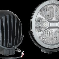 Халоген допълнителен FEVOR 220х87 12-24V, с оребрения по стъклото с кабел 0.5м.
