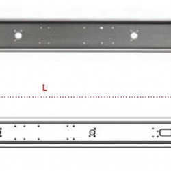 Броня задна сива с капачки 2100 mm.
