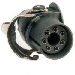 Букса токова 24V 7pin, ABS/EBS, с винтчета, за кабел