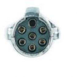 Букса токова 24V, 7pin, метална, с винтчета, женска маса, за кабел, тип N, ISO 1185