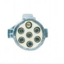 Букса токова 24V, 7pin, метална, с винтчета, мъжка маса, за кабел, тип S, ISO 3731