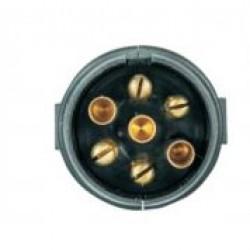 Букса токова 12V, 7pin, пластмасова, с винтчета, за кабел, тип N
