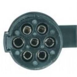 Букса токова 24V, 7pin, пластмасова, с винтчета, женска маса, за кабел, тип N, ISO 1185